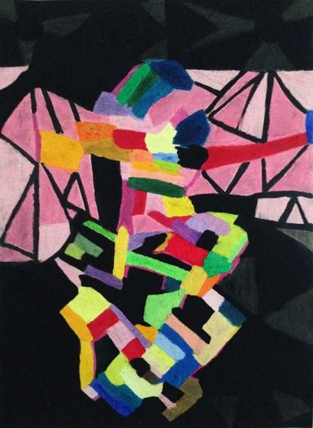 The Tango Dancers (70cm x 50cm)