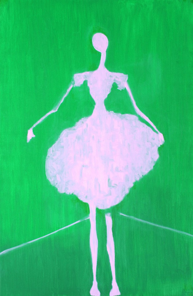 The Pink Ballerina (150cm x 100cm)