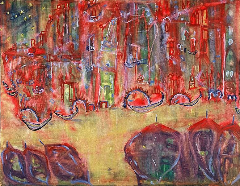 Venice Scene (120cm x 100cm)
