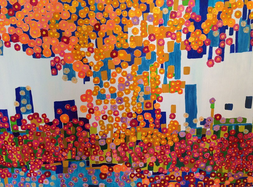 The City of Flowers (100cm x150cm)