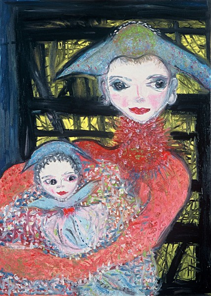 Mother and Baby (70cm x50cm)