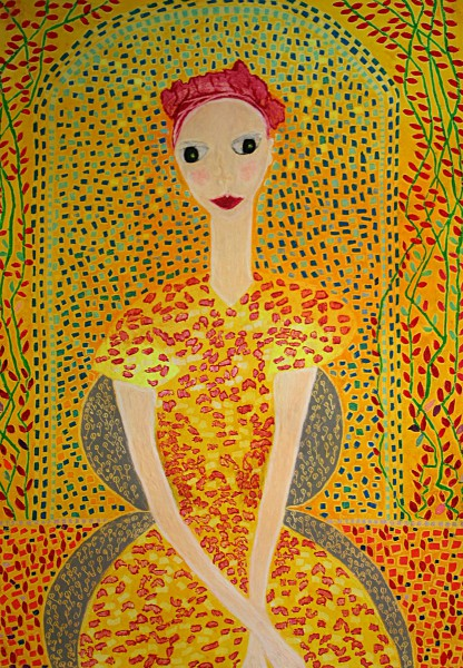 The Bougainvillea Girl (70cm x 50cm)